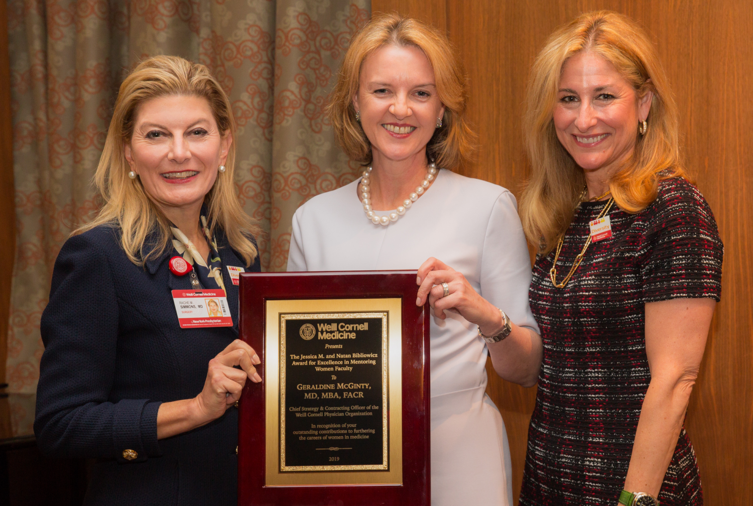 Photo of Dr. McGinty Accepting Award